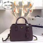 PRADA 0912-2 時尚潮流新款紫色荔枝紋手提單肩包