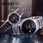 RADO-0119-2 時尚情侶款CENTRIX晶萃系列R30927722閃亮銀陶瓷石英腕錶