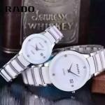 RADO-0119-6 時尚情侶款CENTRIX晶萃系列R30927722白色閃亮銀陶瓷石英腕錶
