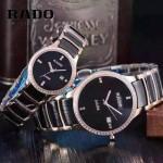 RADO-0119-17 時尚情侶款CENTRIX晶萃系列R30927722鑲鑽土豪金陶瓷石英腕錶
