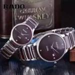 RADO-0119-12 時尚情侶款CENTRIX晶萃系列R30927722鑲鑽閃亮銀陶瓷石英腕錶