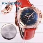 PN1201-4 新款女士紅色配黑底316精鋼錶殼跑秒計時石英腕錶