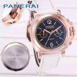PN1201-6 新款女士白色配黑底316精鋼錶殼跑秒計時石英腕錶
