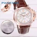 PN1201 新款女士褐色配白底316精鋼錶殼跑秒計時石英腕錶