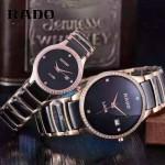 RADO-0119-16 時尚情侶款CENTRIX晶萃系列R30927722鑲鑽土豪金陶瓷石英腕錶