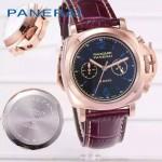 PN1201-3 新款女士紫色配黑底316精鋼錶殼跑秒計時石英腕錶