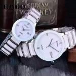 RADO-0119-7 時尚情侶款CENTRIX晶萃系列R30927722白色閃亮銀陶瓷石英腕錶
