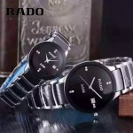 RADO-0119-18 時尚情侶款CENTRIX晶萃系列R30927722鑲鑽閃亮銀陶瓷石英腕錶