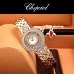 Chopard-036-06 蕭邦HAPPY DIAMONDS雙包珠女表CNC鉆鑲嵌表
