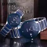 RADO-0119-4 時尚情侶款CENTRIX晶萃系列R30927722藍色閃亮銀陶瓷石英腕錶