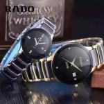 RADO-0119 時尚情侶款CENTRIX晶萃系列R30927722土豪金陶瓷石英腕錶