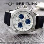 BREITLING-058-17 歐美男士Avenger Seawolf復仇者系列深潛海狼皮帶款腕錶