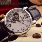 PATEK PHILIPPE-0142-10 潮流新款黑色配閃亮銀藍寶石鏡面全自動機械腕錶