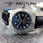 BREITLING-058-10 歐美男士Avenger Seawolf復仇者系列深潛海狼皮帶款腕錶
