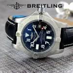 BREITLING-058-12 歐美男士Avenger Seawolf復仇者系列深潛海狼皮帶款腕錶