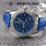 BREITLING-058-18 歐美男士Avenger Seawolf復仇者系列深潛海狼皮帶款腕錶
