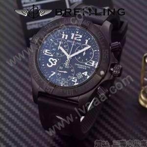 BREITLING-057-11 時尚精英男士賓利系列黑色超大錶盤硅膠款腕錶
