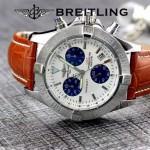 BREITLING-058-19 歐美男士Avenger Seawolf復仇者系列深潛海狼皮帶款腕錶