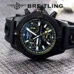 BREITLING-058-24 歐美男士Avenger Seawolf復仇者系列深潛海狼硅膠款腕錶