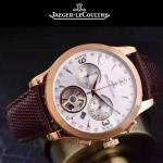 JAEGER-047-8 全新男士Master Date Tourbilon大師系列精確計時皮帶款腕錶