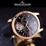 JAEGER-047-3 全新男士Master Date Tourbilon大師系列精確計時皮帶款腕錶