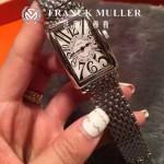 Franck Muller-25-2 時尚女士新款閃亮銀316精鋼長方形款腕錶