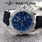 BREITLING-058-20 歐美男士Avenger Seawolf復仇者系列深潛海狼皮帶款腕錶