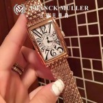 Franck Muller-25 時尚女士新款土豪金316精鋼長方形款腕錶