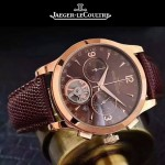JAEGER-047-2 全新男士Master Date Tourbilon大師系列精確計時皮帶款腕錶