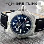 BREITLING-058-28 歐美男士Avenger Seawolf復仇者系列深潛海狼皮帶款腕錶