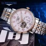 Longines-99-05 浪琴316L精鋼表帶藍寶石水晶玻璃男式飛輪腕表