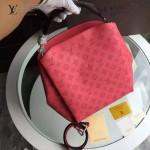 LV M50031-04 潮流時尚BABYLONE系列Mahina小牛皮激光沖孔原版皮手袋