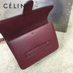 CELINE 77423-2 熱銷《太陽的後裔》姜暮煙宋慧喬同款棗紅色原版皮單肩斜挎包