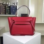 CELINE 98312-17 人氣熱銷belt bag紅色原版皮大號手提單肩包鯰魚包