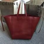 CELINE 2206-4 歐美百搭新款棗紅色原版皮大容量購物袋蝙蝠包