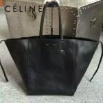 CELINE 2206 歐美百搭新款黑色原版皮大容量購物袋蝙蝠包
