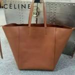 CELINE 2206-3 歐美百搭新款土黃色原版皮大容量購物袋蝙蝠包