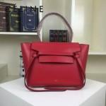 CELINE 98311-21 專櫃新款belt bag紅色原版皮小號手提單肩包鯰魚包