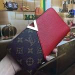 LV M56174-3 人氣熱銷新款Kimono經典老花配紅色皮長款錢包