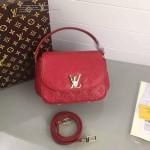 LV M90949-11 歐美百搭Pasadena紅色全皮壓花手提斜跨包