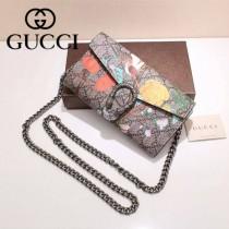 GUCCI 404141-06 專櫃時尚新款絲印系列女士手拿斜背包