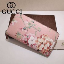GUCCI 403022-02 專櫃時尚新款gucci粉色配印花系列長夾