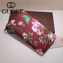 GUCCI 403022-01 專櫃時尚新款gucci紅色配印花系列長夾