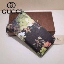 GUCCI 403022 專櫃時尚新款gucci黑色配印花系列長夾