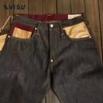 EVISU-01 原單 福神赤耳金色款刺繡道樂大M原色赤耳牛仔直筒長褲