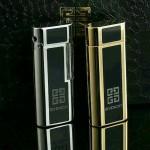 Givenchy打火機-01 紀梵希高檔男女款銀色/土豪金進口砂輪充氣打火機點煙器