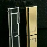 Dunhill-01 登喜路高檔男女款銀色/土豪金進口砂輪充氣打火機點煙器