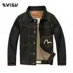 EVISU-033 原單 福神刺繡字母MIGHTY原色赤耳牛仔夾克修身大碼外套