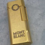 Montblanc打火機-02 萬寶龍潮流時尚金色打火機點煙機