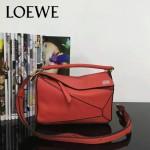 Loewe-051-04 專櫃時尚新款loewe puzzle mini系列原版小牛皮手提斜挎包